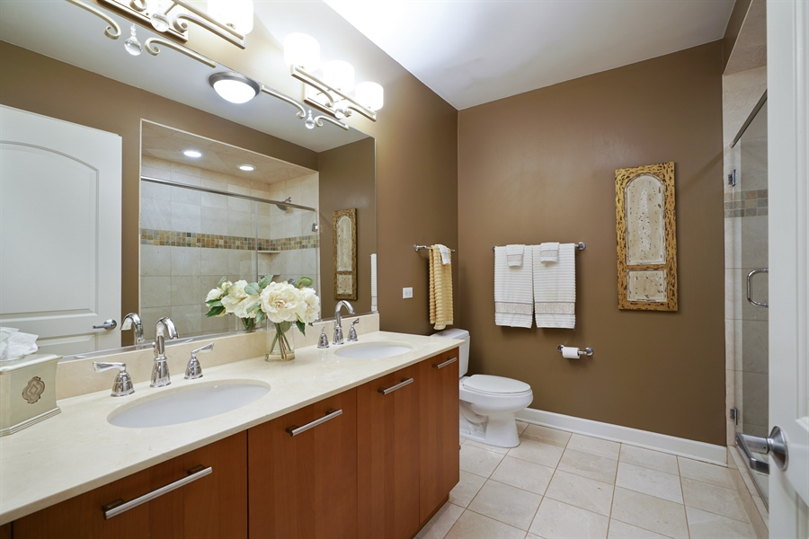 Real Estate Photography - 450 E Waterside Dr, Unit 2302, Chicago, IL, 60601 - Master Bathroom