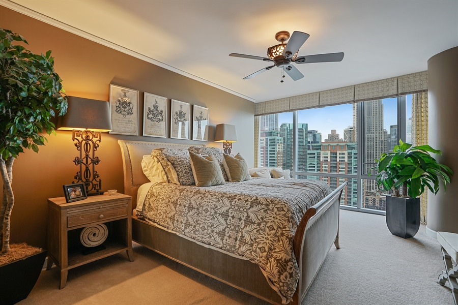 Real Estate Photography - 450 E Waterside Dr, Unit 2302, Chicago, IL, 60601 - Master Bedroom