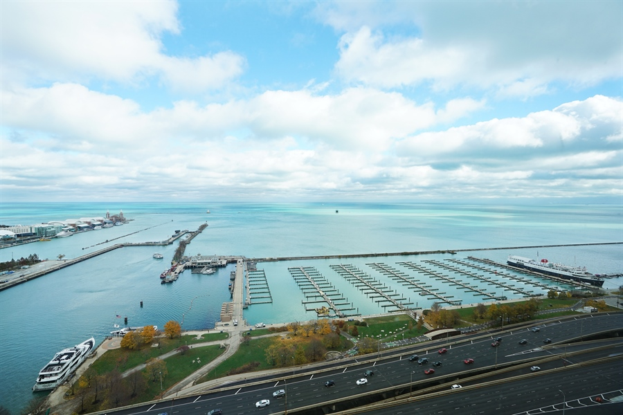 Real Estate Photography - 450 E Waterside Dr, Unit 2302, Chicago, IL, 60601 - View