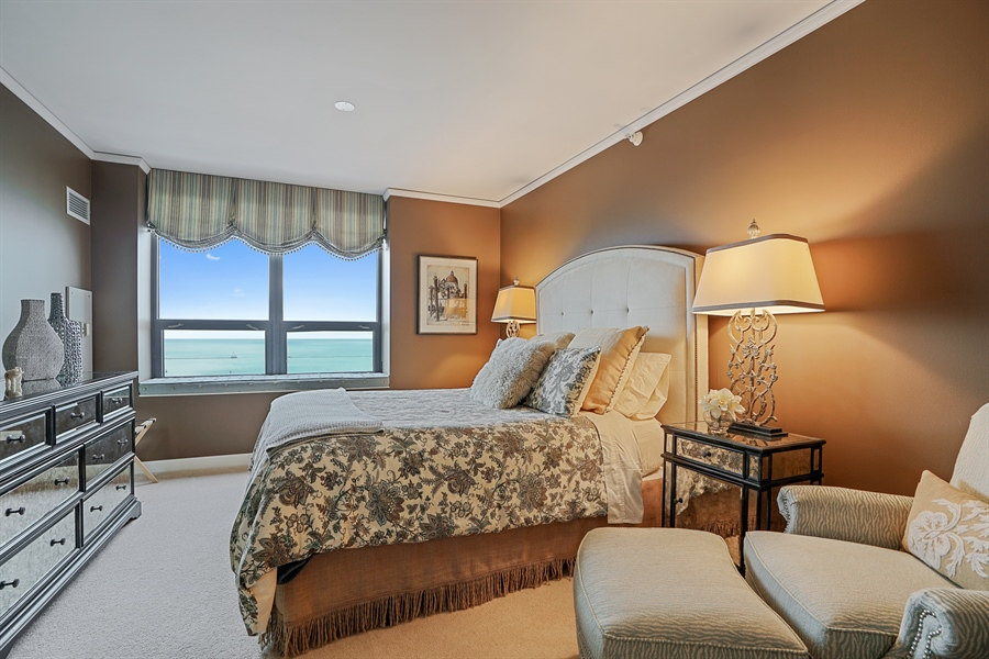 Real Estate Photography - 450 E Waterside Dr, Unit 2302, Chicago, IL, 60601 - 2nd Bedroom