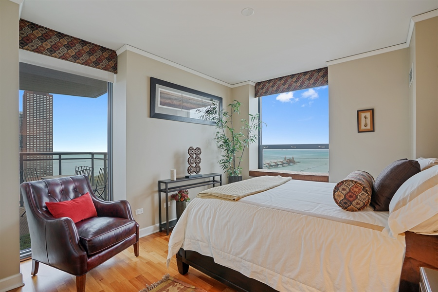 Real Estate Photography - 450 E Waterside Dr, Unit 2302, Chicago, IL, 60601 - 3rd Bedroom