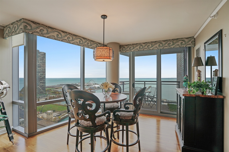 Real Estate Photography - 450 E Waterside Dr, Unit 2302, Chicago, IL, 60601 - Dining Room