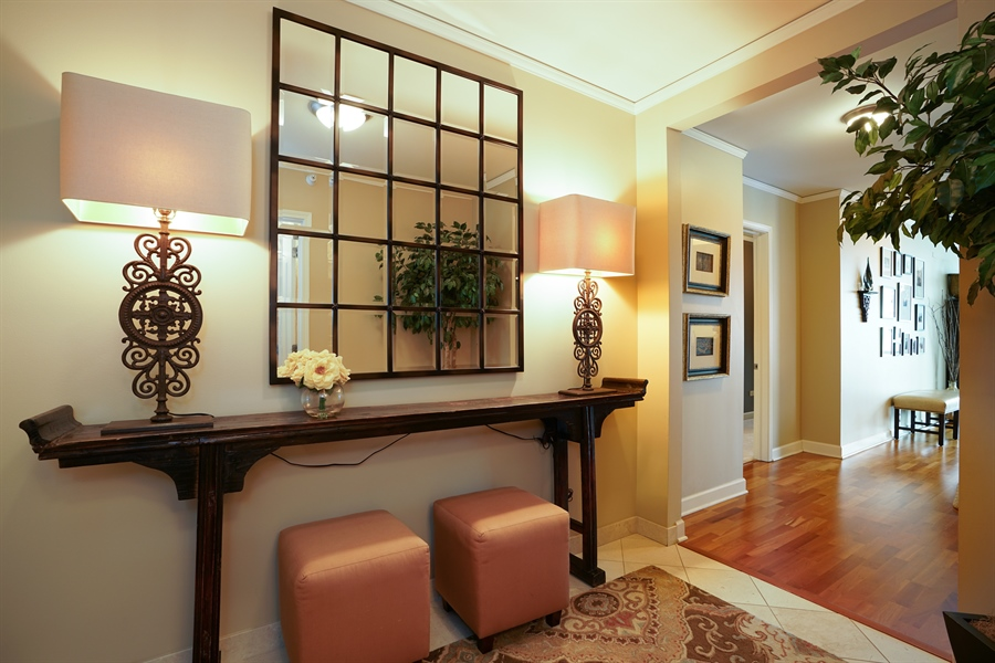 Real Estate Photography - 450 E Waterside Dr, Unit 2302, Chicago, IL, 60601 - Foyer