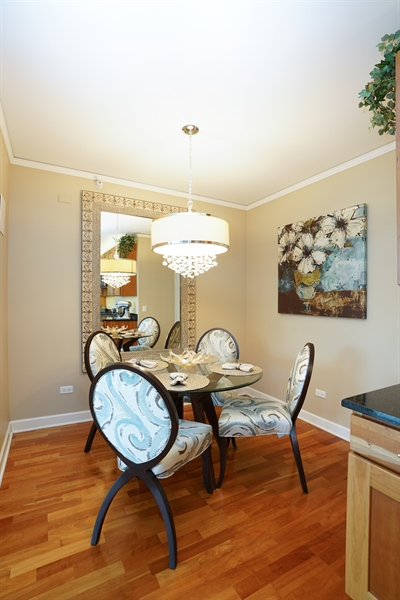 Real Estate Photography - 450 E Waterside Dr, Unit 2302, Chicago, IL, 60601 - Dining Area