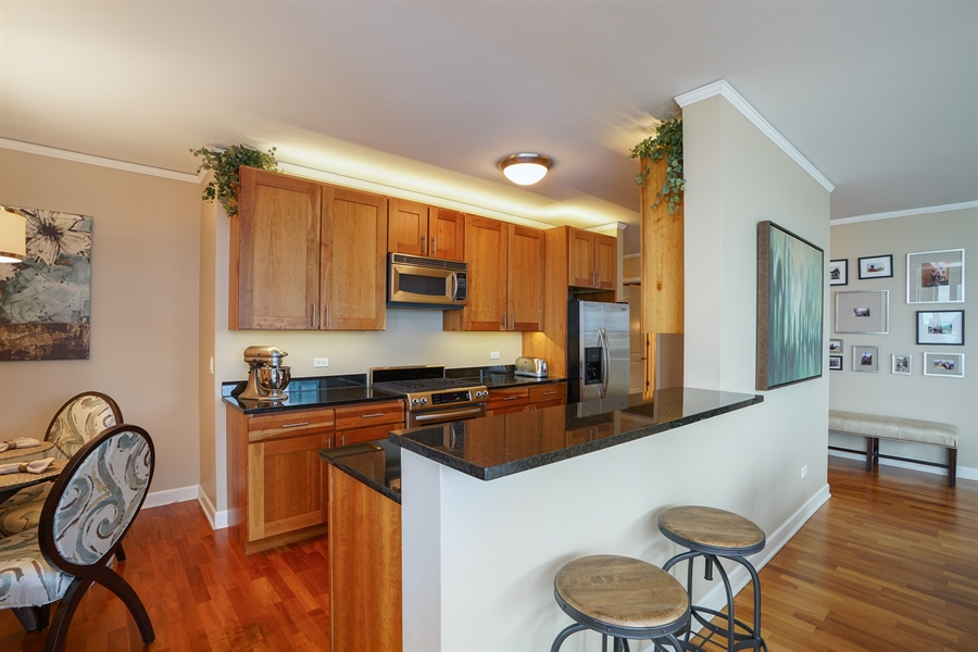 Real Estate Photography - 450 E Waterside Dr, Unit 2302, Chicago, IL, 60601 - Kitchen