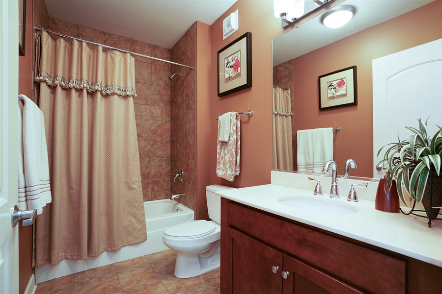 Real Estate Photography - 450 E Waterside Dr, Unit 2302, Chicago, IL, 60601 - 2nd Bathroom