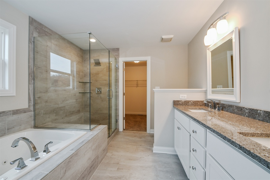Real Estate Photography - 835 Hayfield, Crown Point, IN, 46307 - Master Bathroom