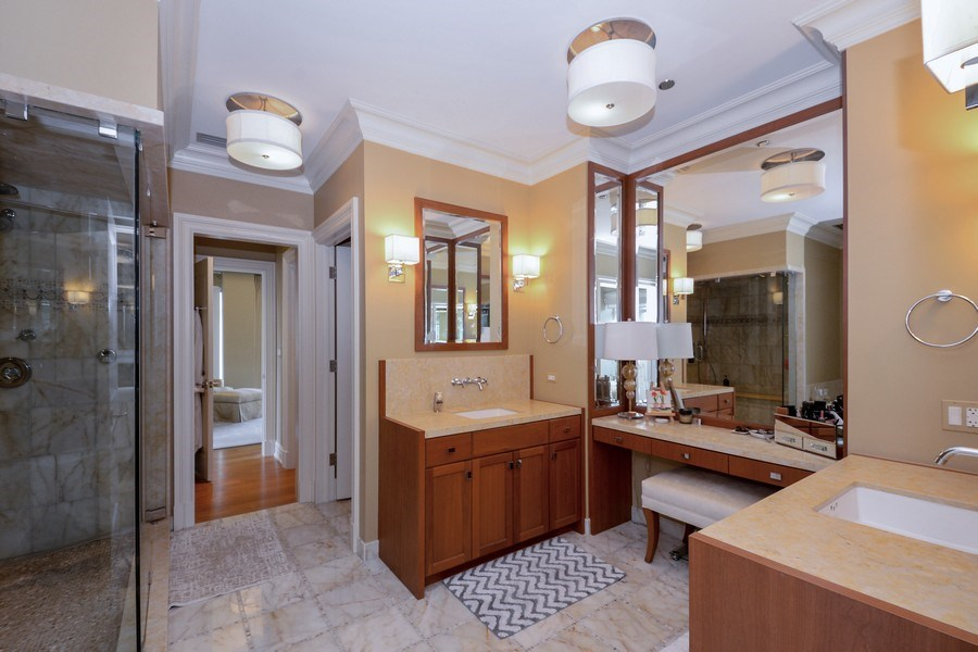 Real Estate Photography - 33 W. Ontario, TH1, Chicago, IL, 60654 - Master Bathroom