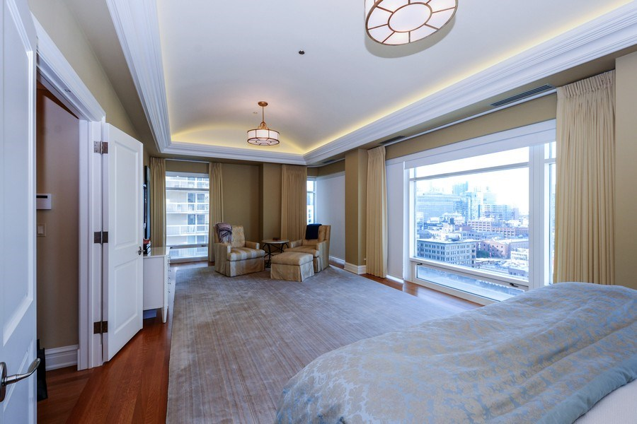 Real Estate Photography - 33 W. Ontario, TH1, Chicago, IL, 60654 - Master Bedroom