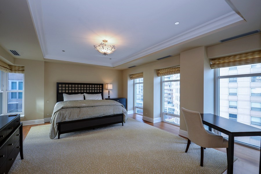 Real Estate Photography - 33 W. Ontario, TH1, Chicago, IL, 60654 - Bedroom