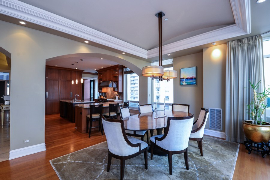 Real Estate Photography - 33 W. Ontario, TH1, Chicago, IL, 60654 - Dining Room