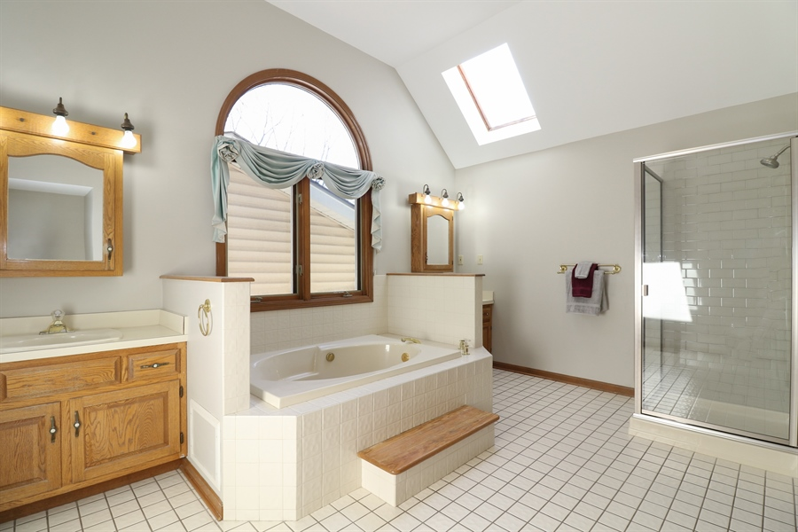 Real Estate Photography - 3777 Douglas Rd, Downers Grove, IL, 60515 - Master Bathroom