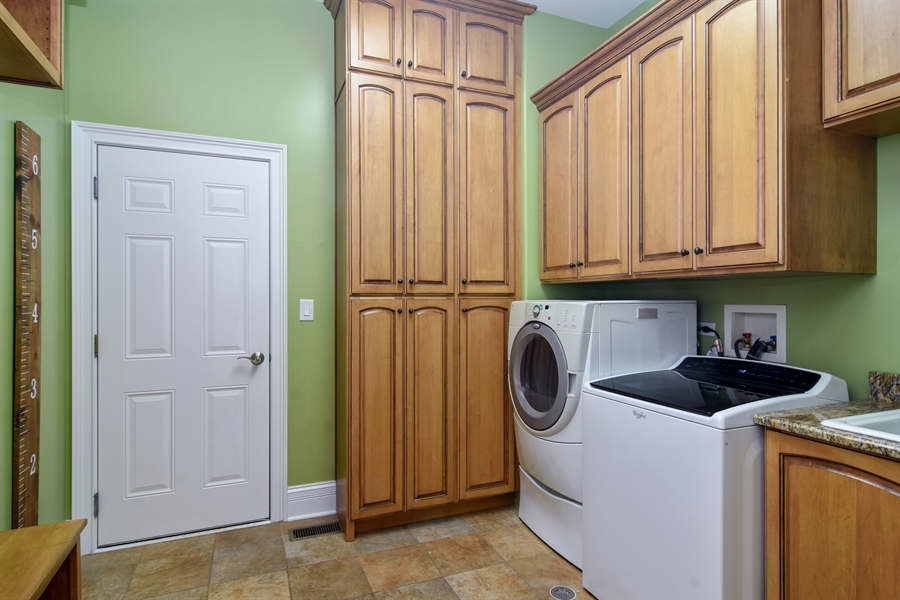 Real Estate Photography - 207 S Bobby Ln, Mt Prospect, IL, 60056 - 1st Floor Mud - Laundry Room w/Built-in Bench/Hook