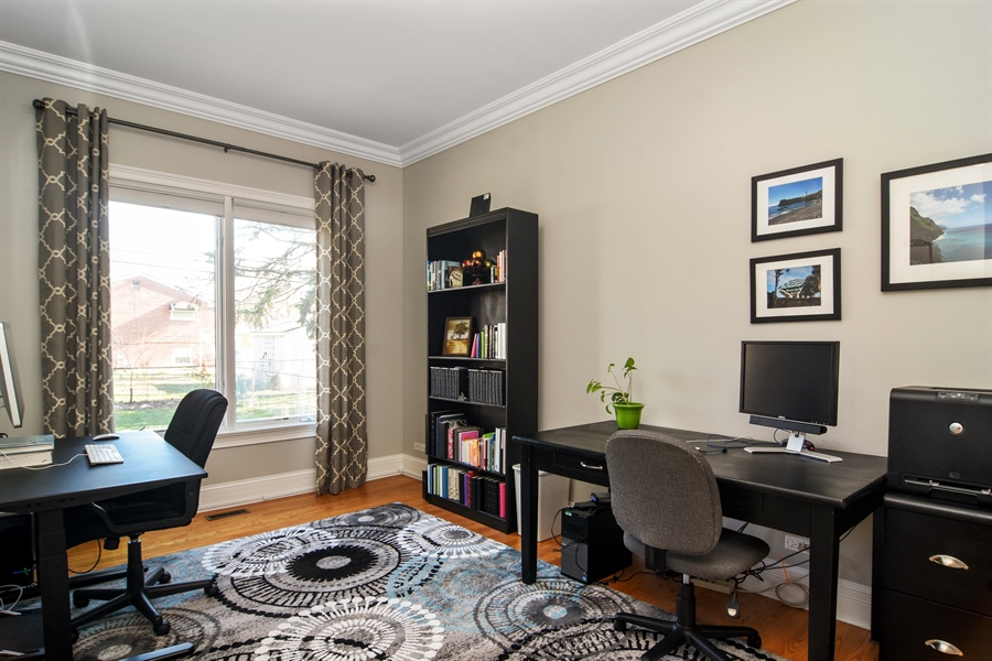 Real Estate Photography - 207 S Bobby Ln, Mt Prospect, IL, 60056 - 1st Floor (off Family Rm) Office/Den