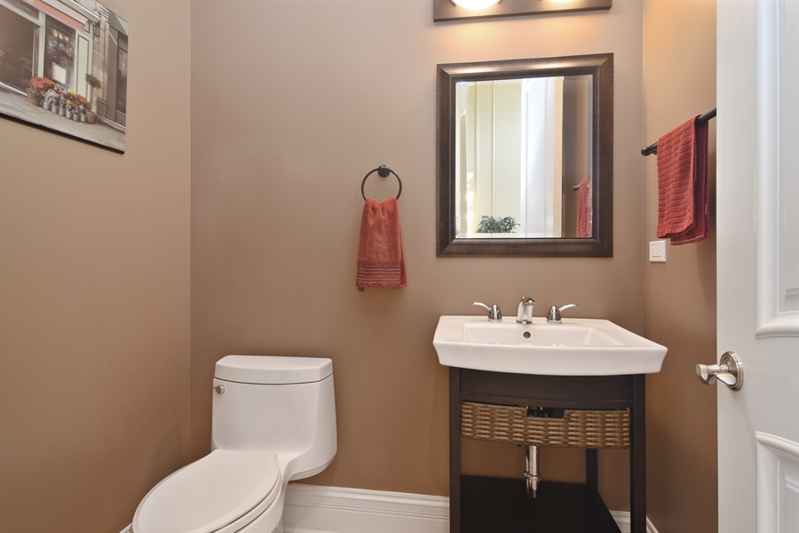 Real Estate Photography - 207 S Bobby Ln, Mt Prospect, IL, 60056 - 4th Bathroom - Guest Powder Room