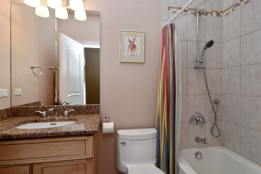 Real Estate Photography - 207 S Bobby Ln, Mt Prospect, IL, 60056 - 3rd Full Bathroom on 2nd Floor
