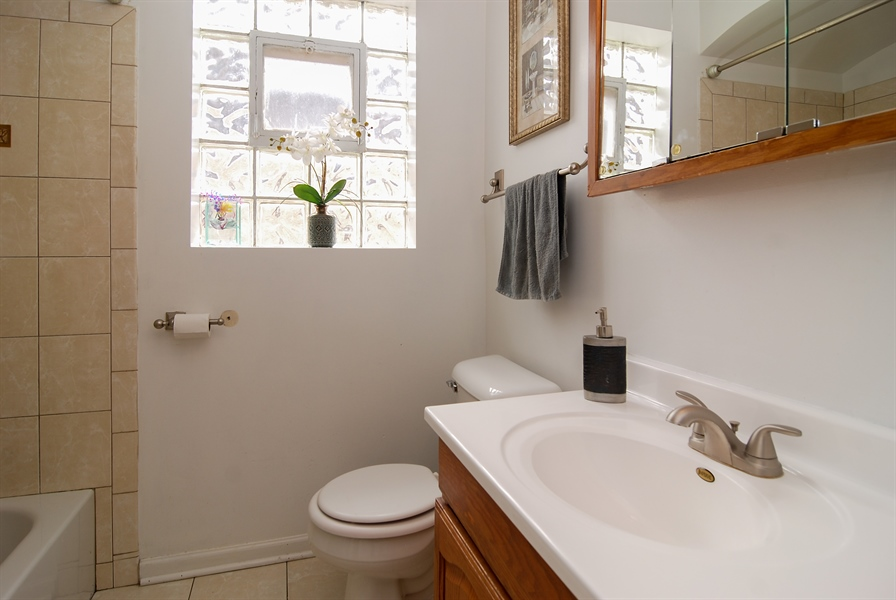 Real Estate Photography - 406 Granville Ave, Bellwood, IL, 60104 - Bathroom