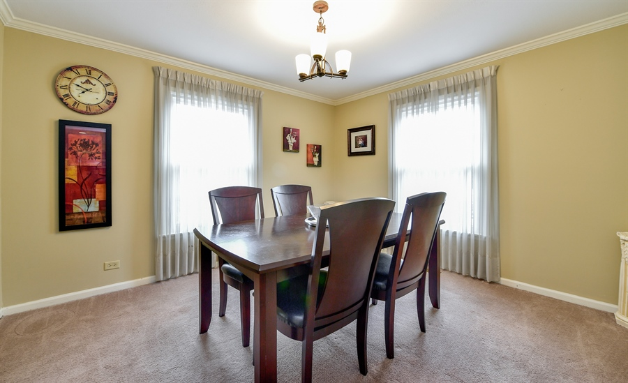 Real Estate Photography - 313 Queens Pkwy, Bartlett, IL, 60103 - Dining Room