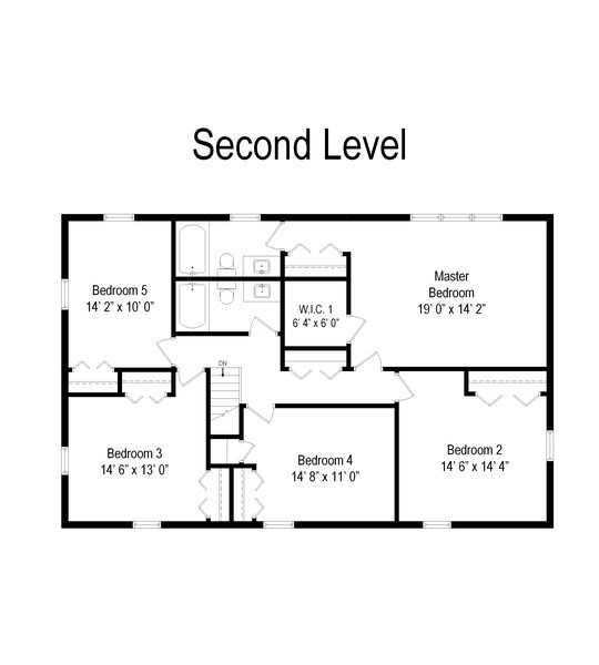 Real Estate Photography - 313 Queens Pkwy, Bartlett, IL, 60103 - Floor Plan