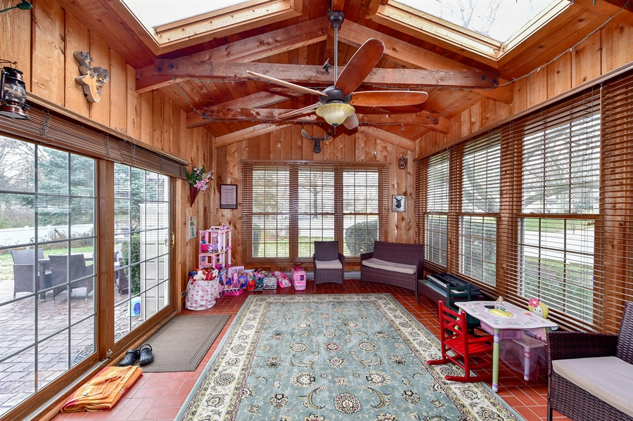 Real Estate Photography - 313 Queens Pkwy, Bartlett, IL, 60103 - Sun Room