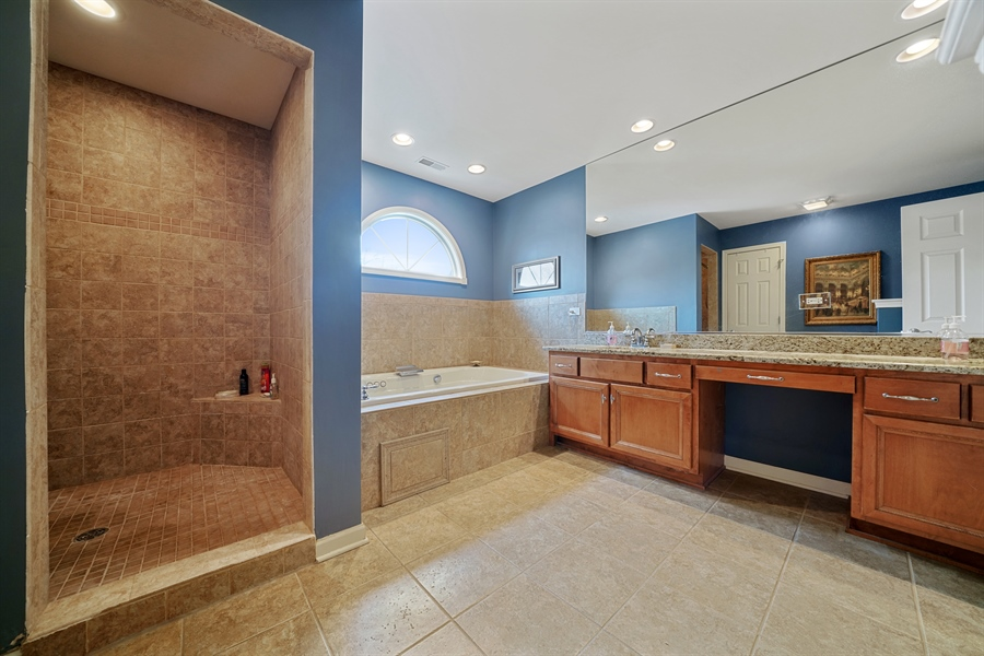 Real Estate Photography - 106 S. Lincoln St, Westmont, IL, 60559 - Master Bathroom
