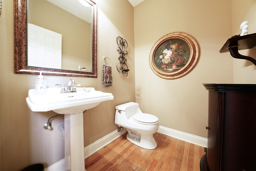 Real Estate Photography - 106 S. Lincoln St, Westmont, IL, 60559 - Powder Room