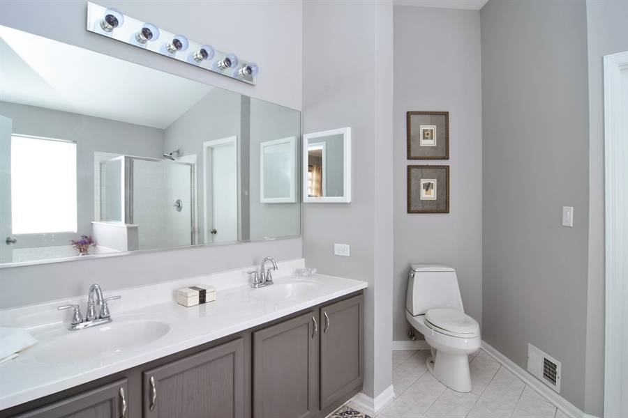 Real Estate Photography - 741 Sun Lake Rd, Lake Villa, IL, 60046 - Master Bathroom