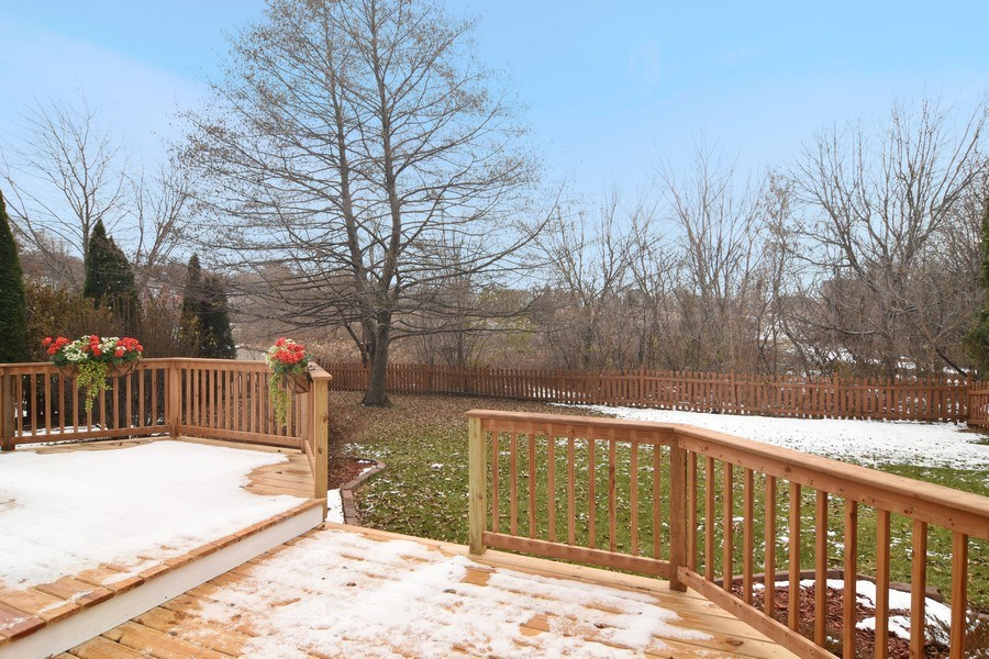 Real Estate Photography - 741 Sun Lake Rd, Lake Villa, IL, 60046 - Deck