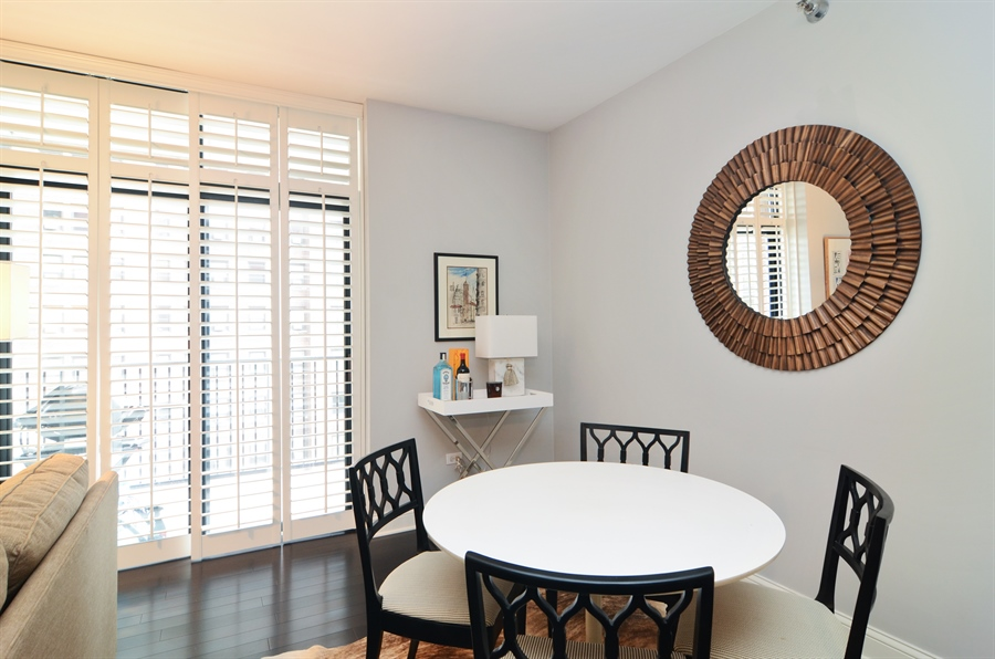 Real Estate Photography - 1122 N Dearborn, 8C, Chicago, IL, 60610 - Dining Room