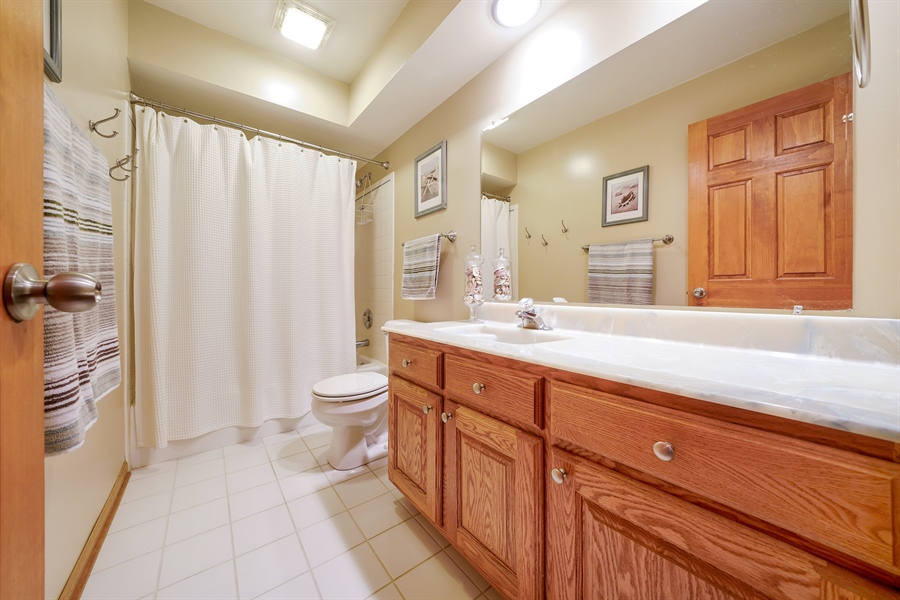 Real Estate Photography - 933 E. Crest Ave, Addison, IL, 60101 - 2nd Bathroom