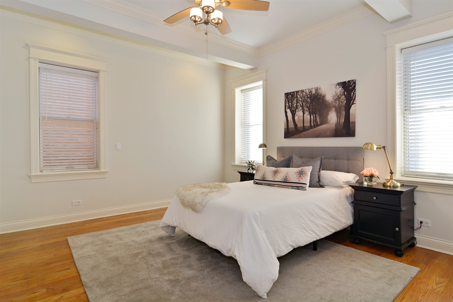 Real Estate Photography - 1422 N. Hoyne Avenue, 2, Chicago, IL, 60622 - Master Bedroom
