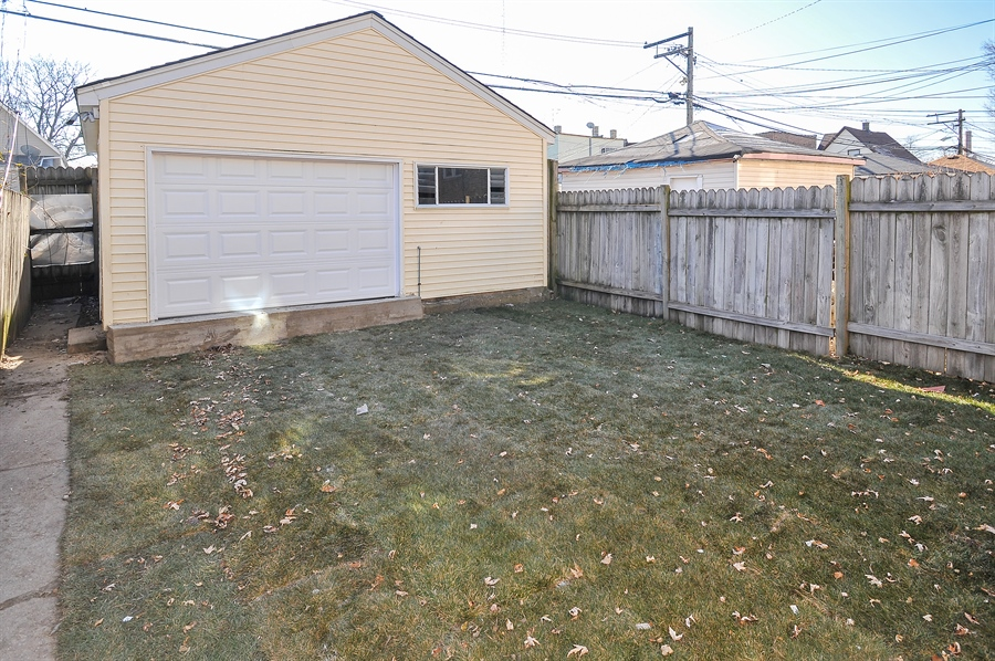 Real Estate Photography - 4841 W. Henderson St., Chicago, IL, 60641 - Back Yard