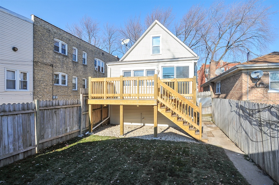 Real Estate Photography - 4841 W. Henderson St., Chicago, IL, 60641 - Rear View