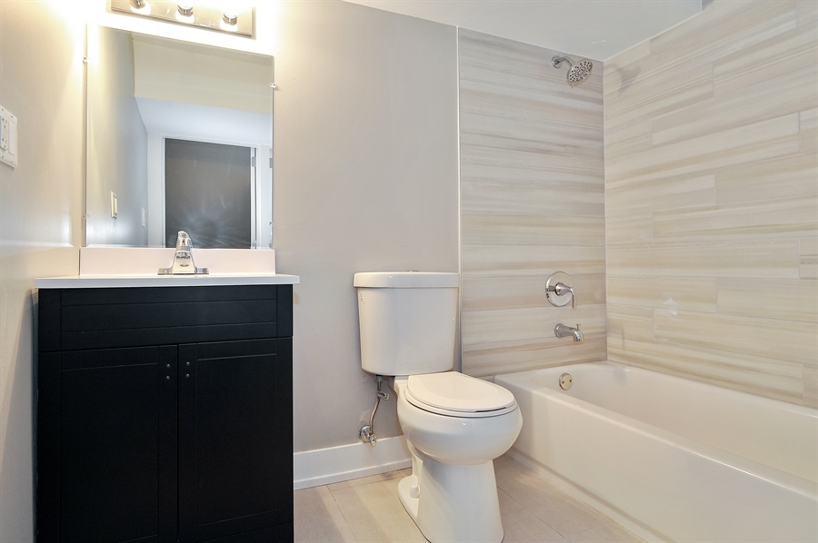 Real Estate Photography - 4841 W. Henderson St., Chicago, IL, 60641 - 2nd Bathroom