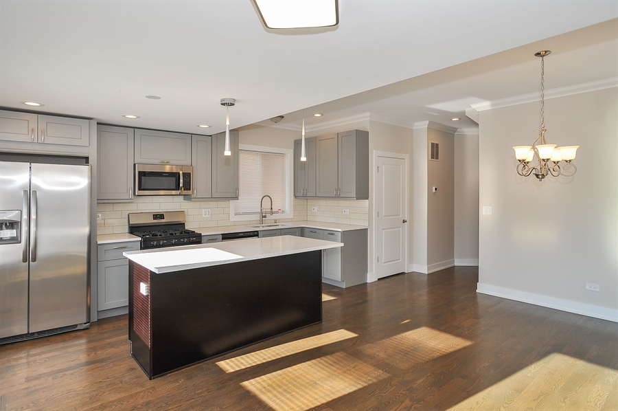 Real Estate Photography - 4841 W. Henderson St., Chicago, IL, 60641 - Kitchen / Dining Room