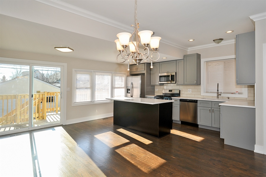 Real Estate Photography - 4841 W. Henderson St., Chicago, IL, 60641 - Kitchen/Dining