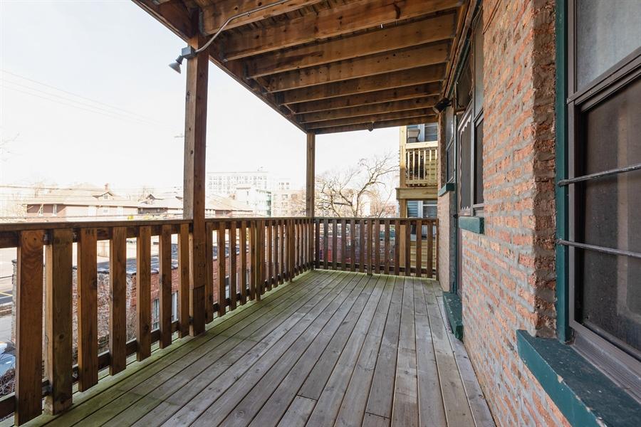 Real Estate Photography - 1236 W Columbia Ave, 2E, Chicago, IL, 60626 - Deck