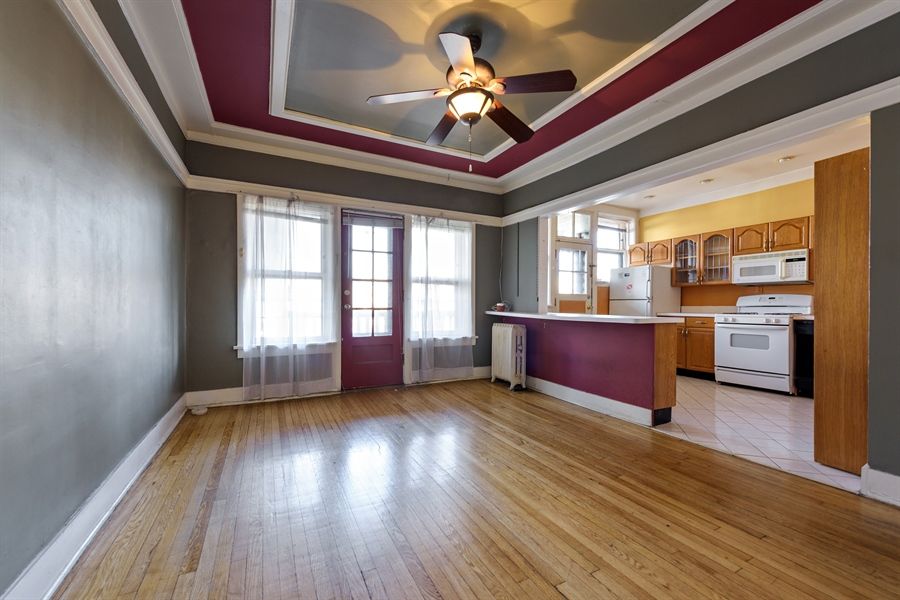Real Estate Photography - 1236 W Columbia Ave, 2E, Chicago, IL, 60626 - Kitchen / Dining Room