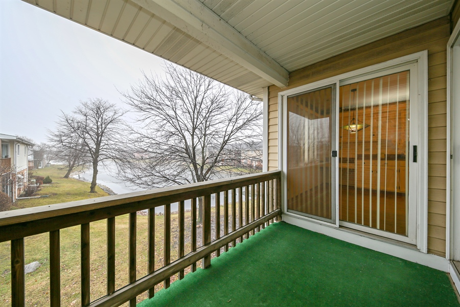 Real Estate Photography - 740 Cherrywood, C, Willowbrook, IL, 60527 - Balcony