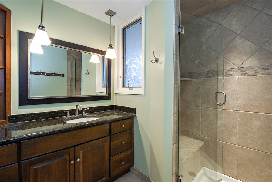 Real Estate Photography - 541 S. Hough St., Barrington, IL, 60010 - 2nd Bathroom