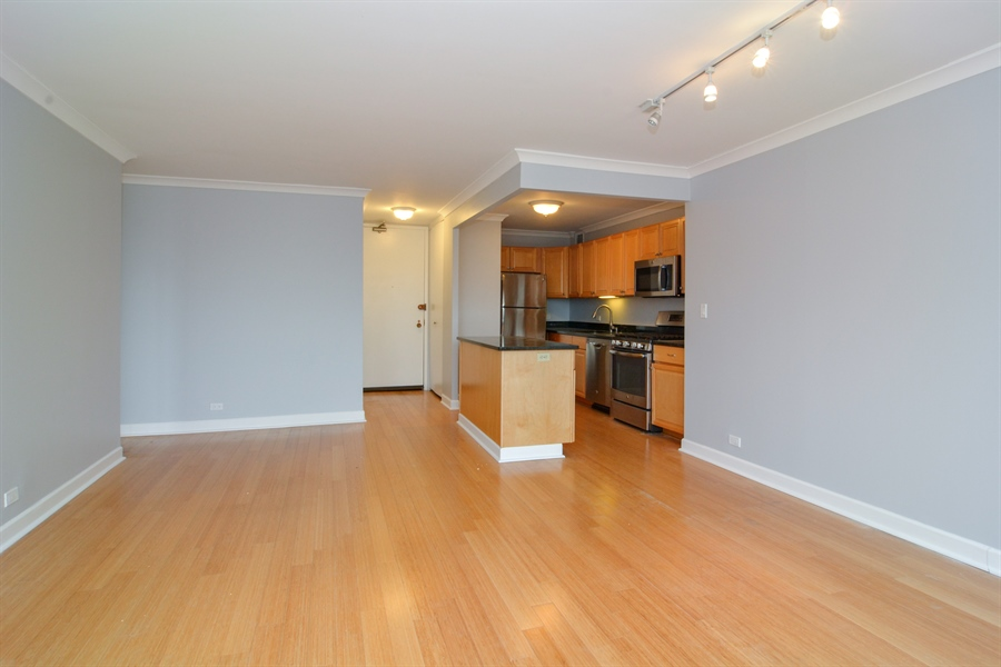 Real Estate Photography - 444 W Fullerton, #1306, Chicago, IL, 60614 - Kitchen / Living Room