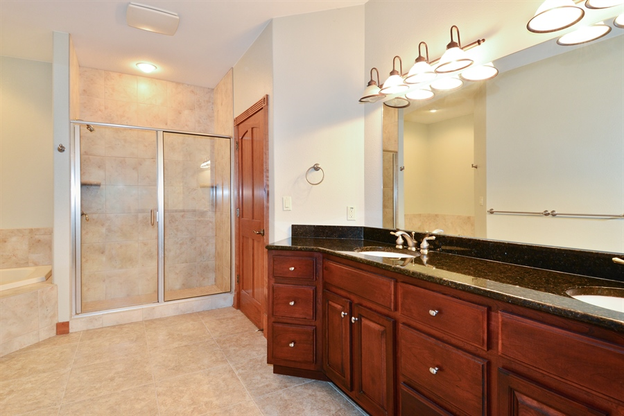 Real Estate Photography - W7076 Oakdale Drive, Beaver Dam, WI, 53916 - Master Bathroom