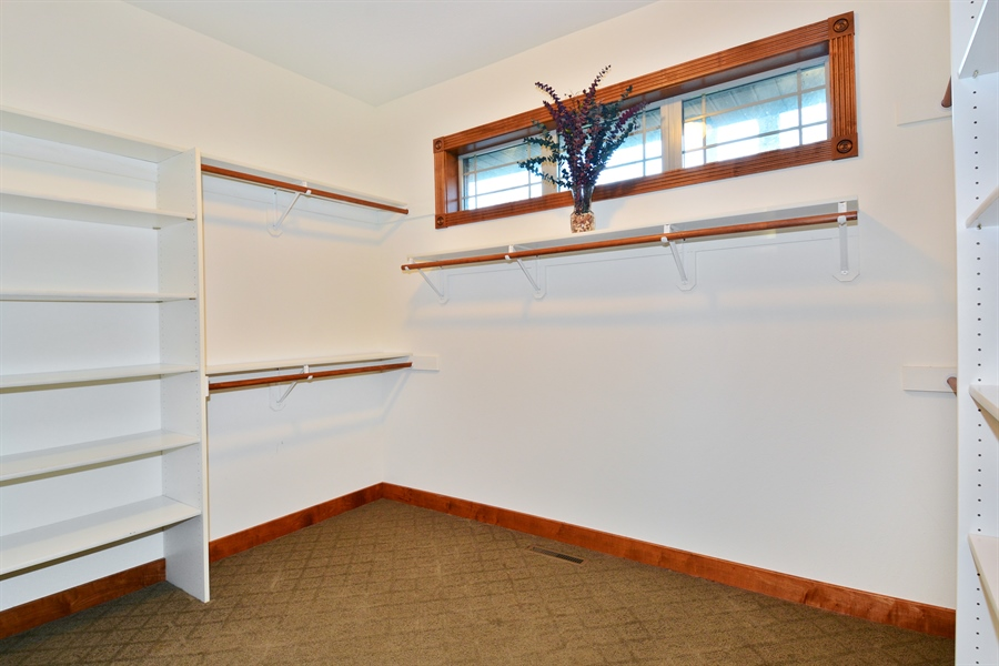 Real Estate Photography - W7076 Oakdale Drive, Beaver Dam, WI, 53916 - Master Bedroom Closet