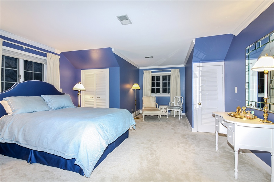 Real Estate Photography - 5101 Harvey Ave, Western Springs, IL, 60558 - Master Bedroom