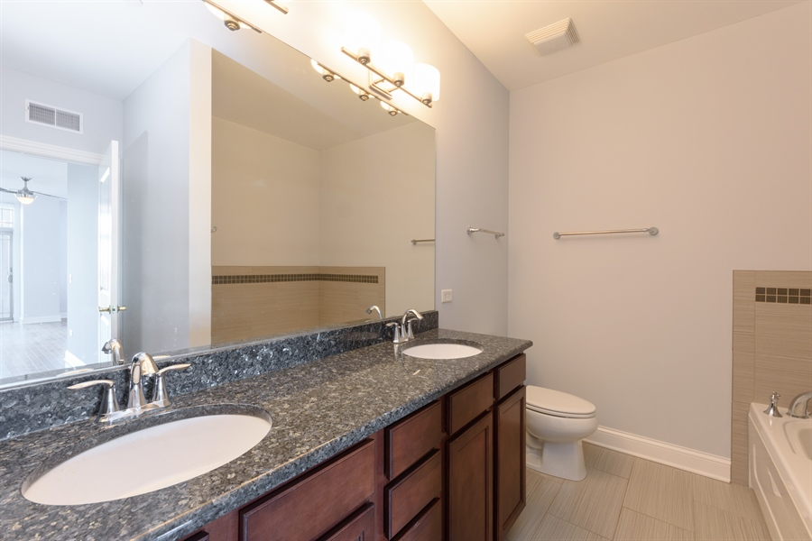 Real Estate Photography - 100 Prairie Park Drive, 507, Wheeling, IL, 60090 - Master Bathroom