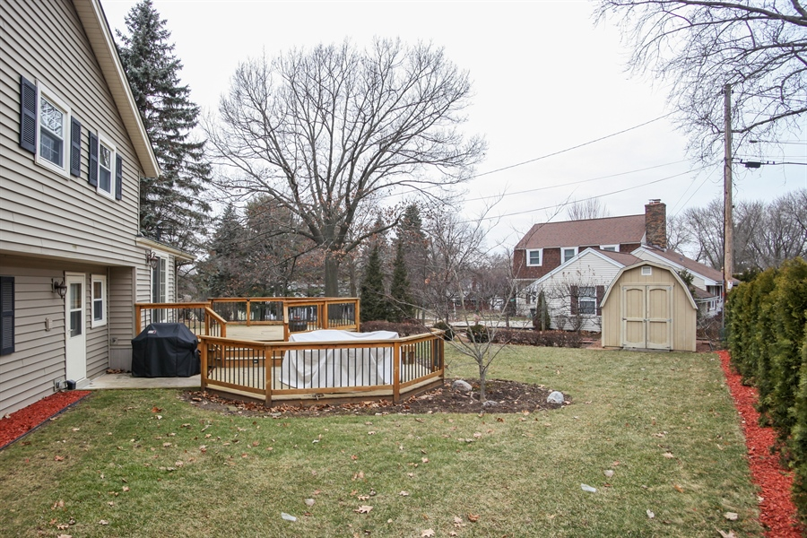 Real Estate Photography - 1017 Sweetbriar Dr, Waukesha, WI, 53186 - Back Yard