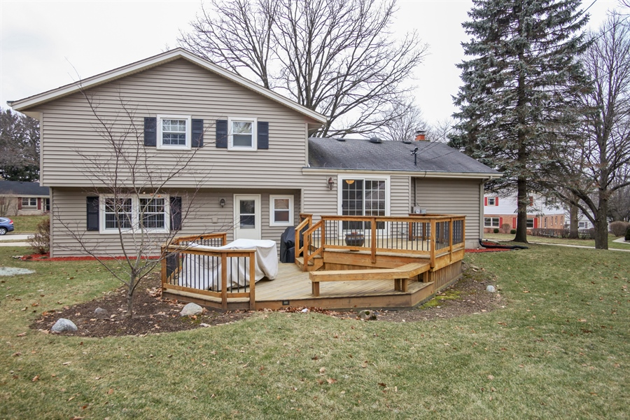 Real Estate Photography - 1017 Sweetbriar Dr, Waukesha, WI, 53186 - Rear View