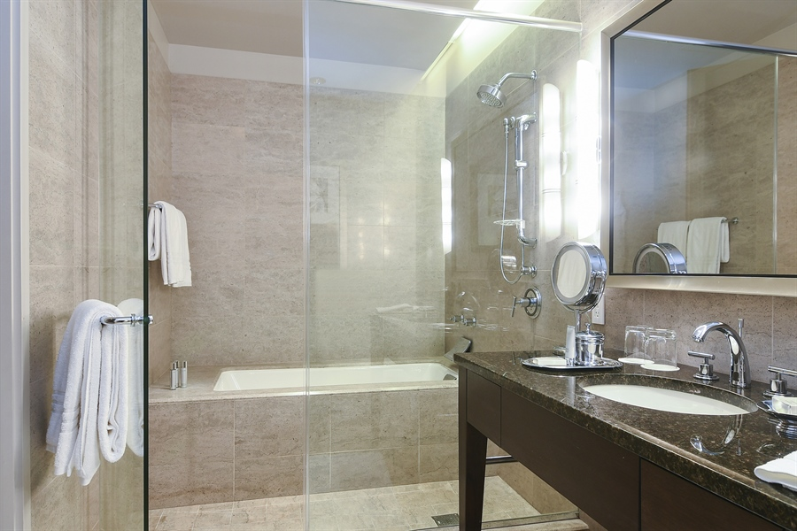 Real Estate Photography - 401 N Wabash, 1824, Chicago, IL, 60611 - Bathroom