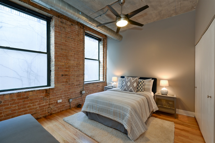 Real Estate Photography - 110 N. Peoria St., 205, Chicago, IL, 60607 - 2nd Bedroom
