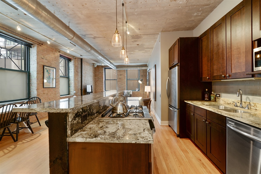 Real Estate Photography - 110 N. Peoria St., 205, Chicago, IL, 60607 - Kitchen